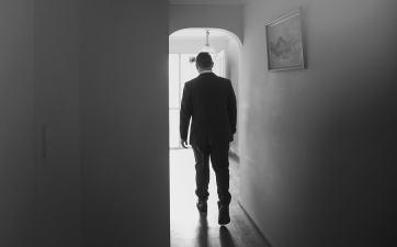 Walking off to the door