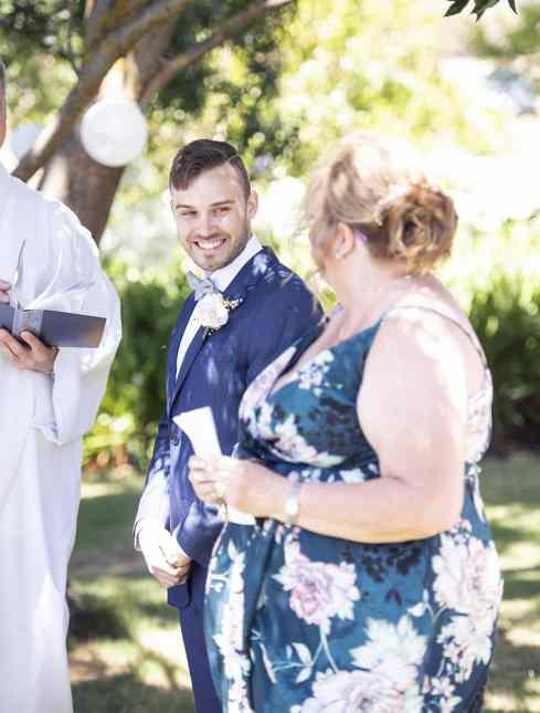 Grateful groom