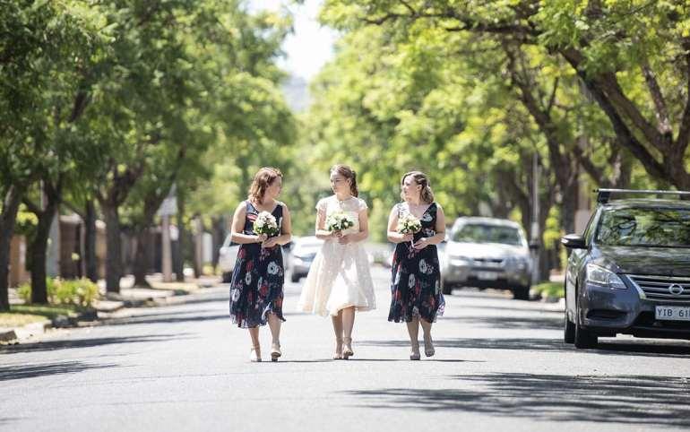 Ladies walking together