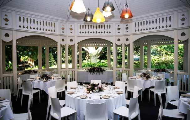 Inside the Adelaide Botanic Garden Restaurant