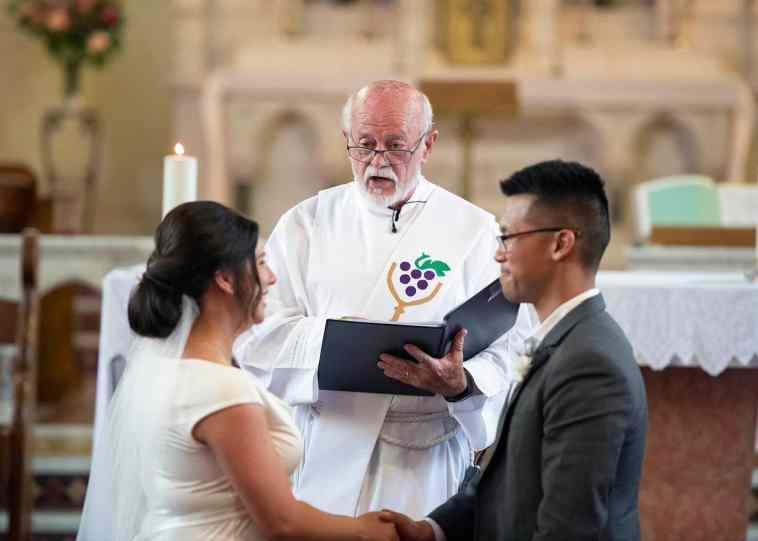 Talking priest