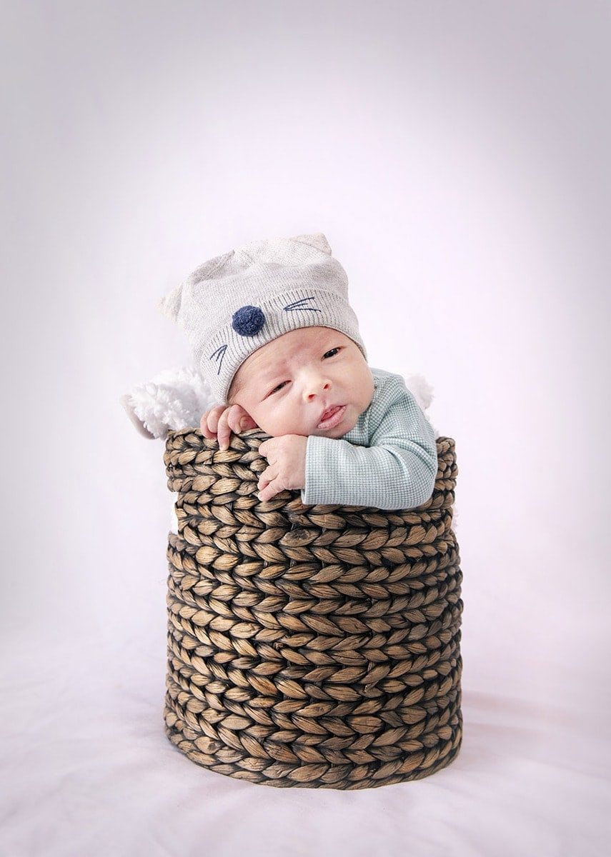 In a basket