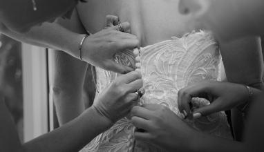 Buttoning up dress