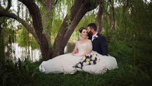 st francis winery wedding photo