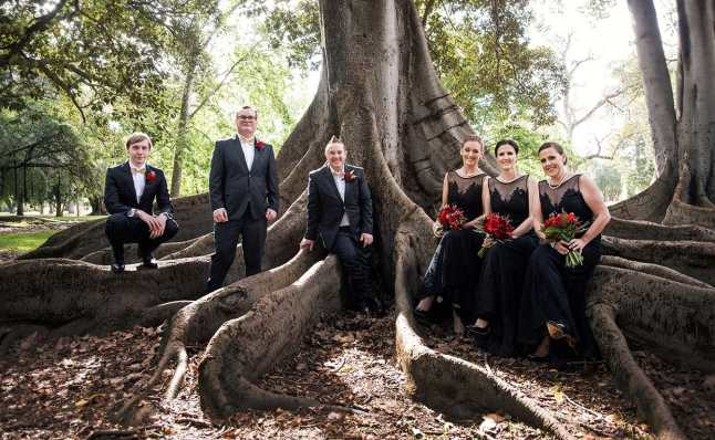 Bridal party in Botanic Park