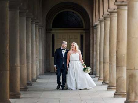 bride and groom at Adelaide University