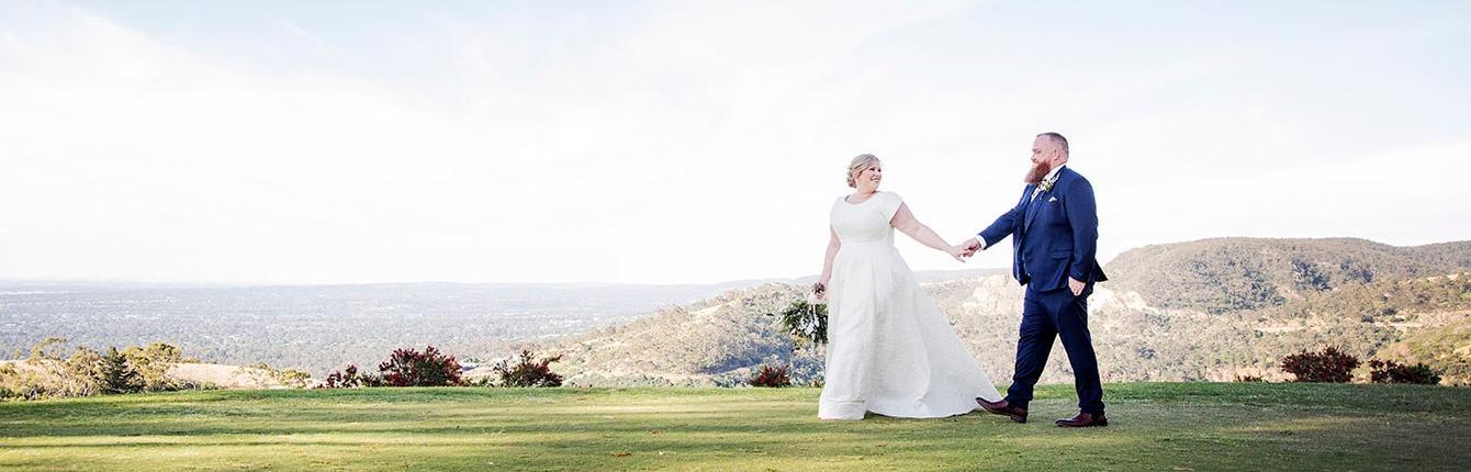 Mt Osmond Golf Course wedding photo