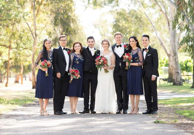 bridal party in veale gardens