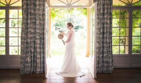 Bride looking pretty at AlRu Farm