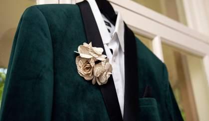 Closeup on suit