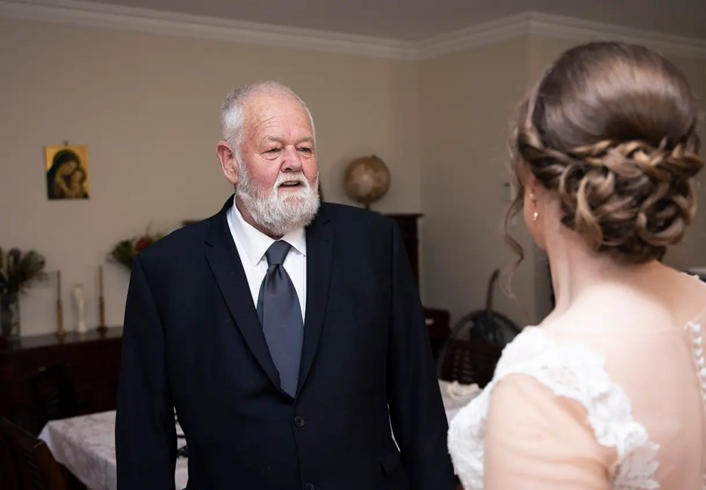 Dad's first look of bride