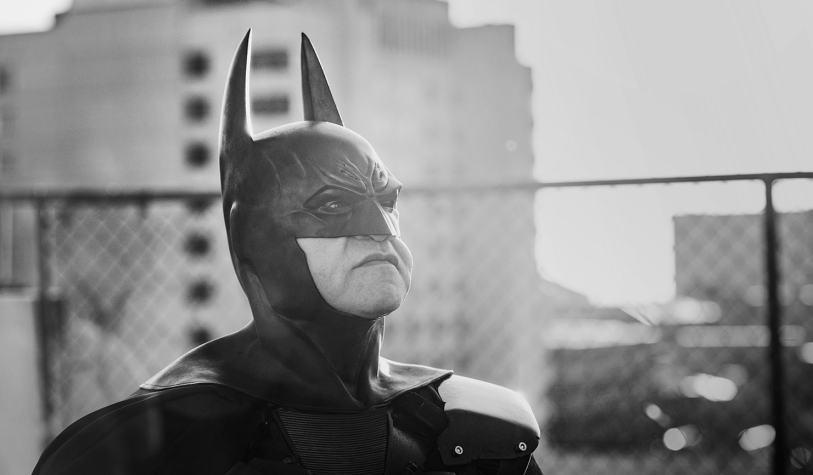 Batman surveying his city