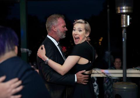 dancing bridal party