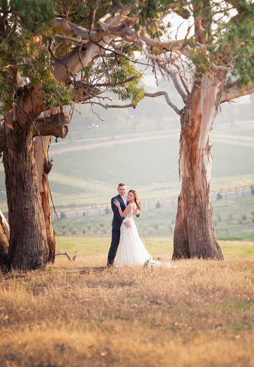 Bride and Groom together on their Lot 100 Wedding day