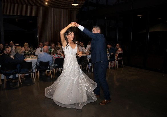 First dance at Lot 100 wedding