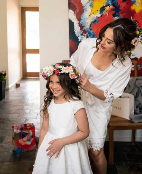 Getting flower girl ready