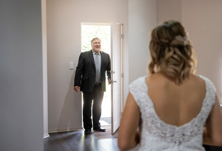 Father of the brides first look