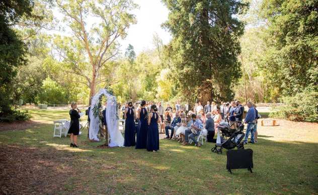 Wedding ceremony in Belair National Park