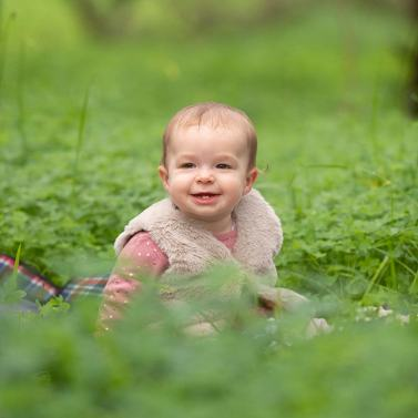 Hadley in the grass
