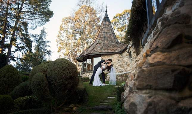 Leaning in for a kiss at Thorngrove Manor