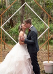 First kiss at Idyll & Co Wedding