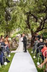 Veale Gardens wedding ceremony near pavilion
