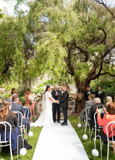 Veale Gardens wedding ceremony