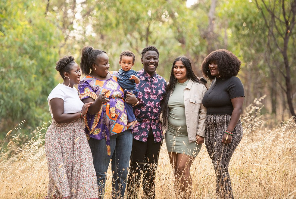 Family photography in the long grass