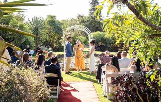 Botanic Gardens Sunken Garden Wedding Ceremony 2