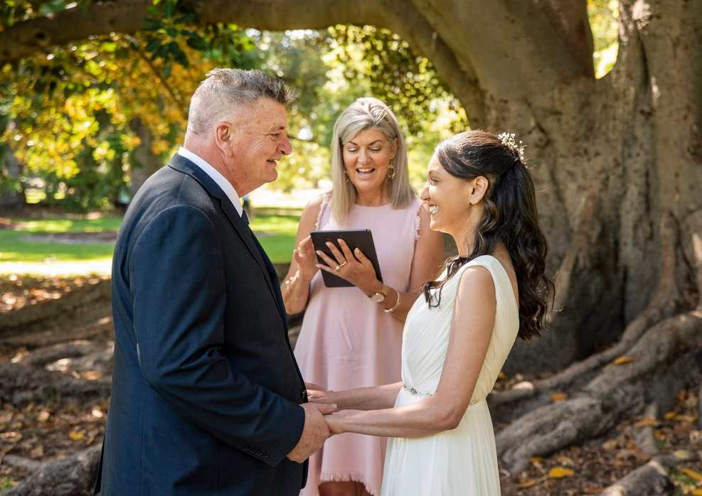 Wedding ceremony in the Adelaide Botanic Park