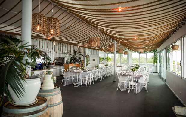 Inside Seagrass Long Point Wedding Reception
