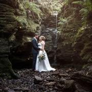Waterfall wedding photography Hobart