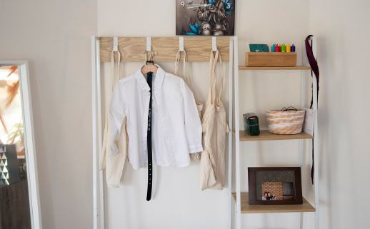 Young ones clothes lined out
