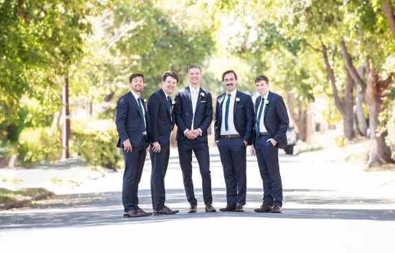 groomsmen ready to roll