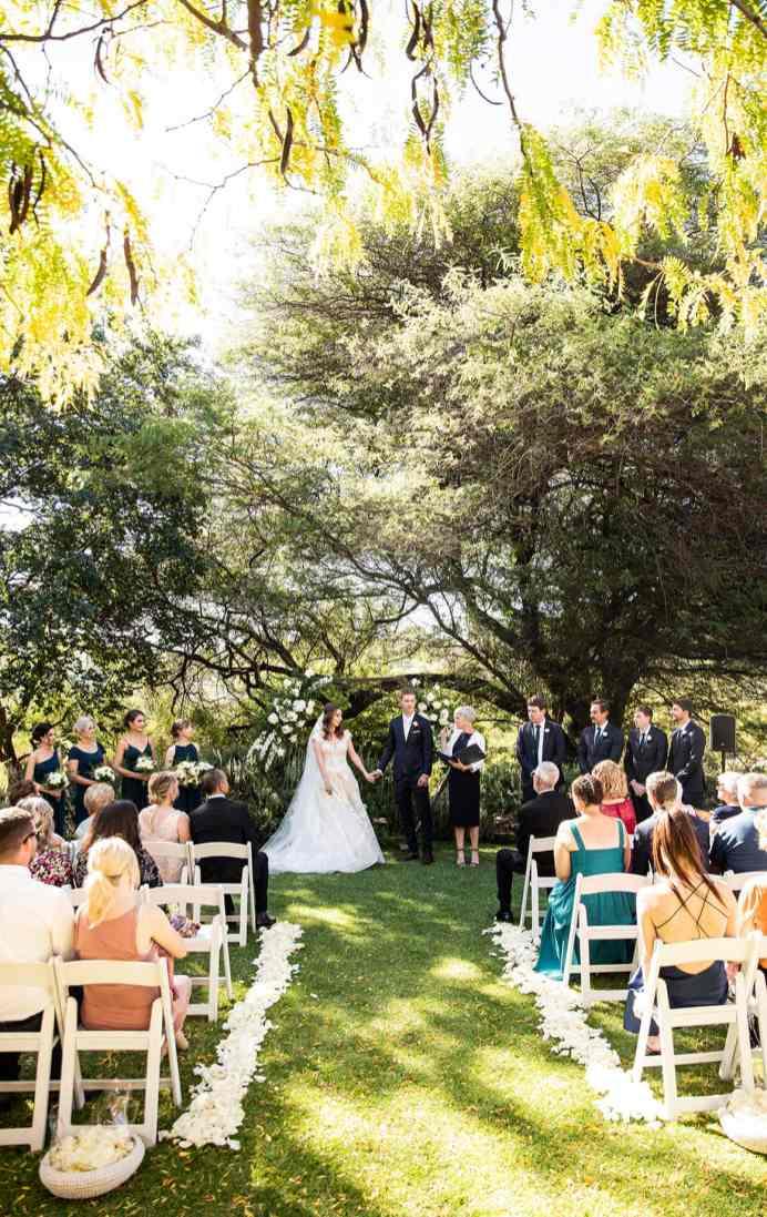 national Wine Center Wedding Ceremony under sun