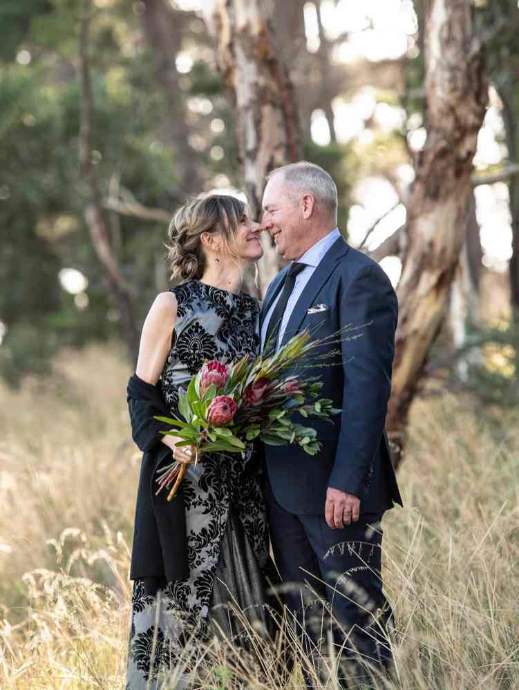 Newly weds in the long grass