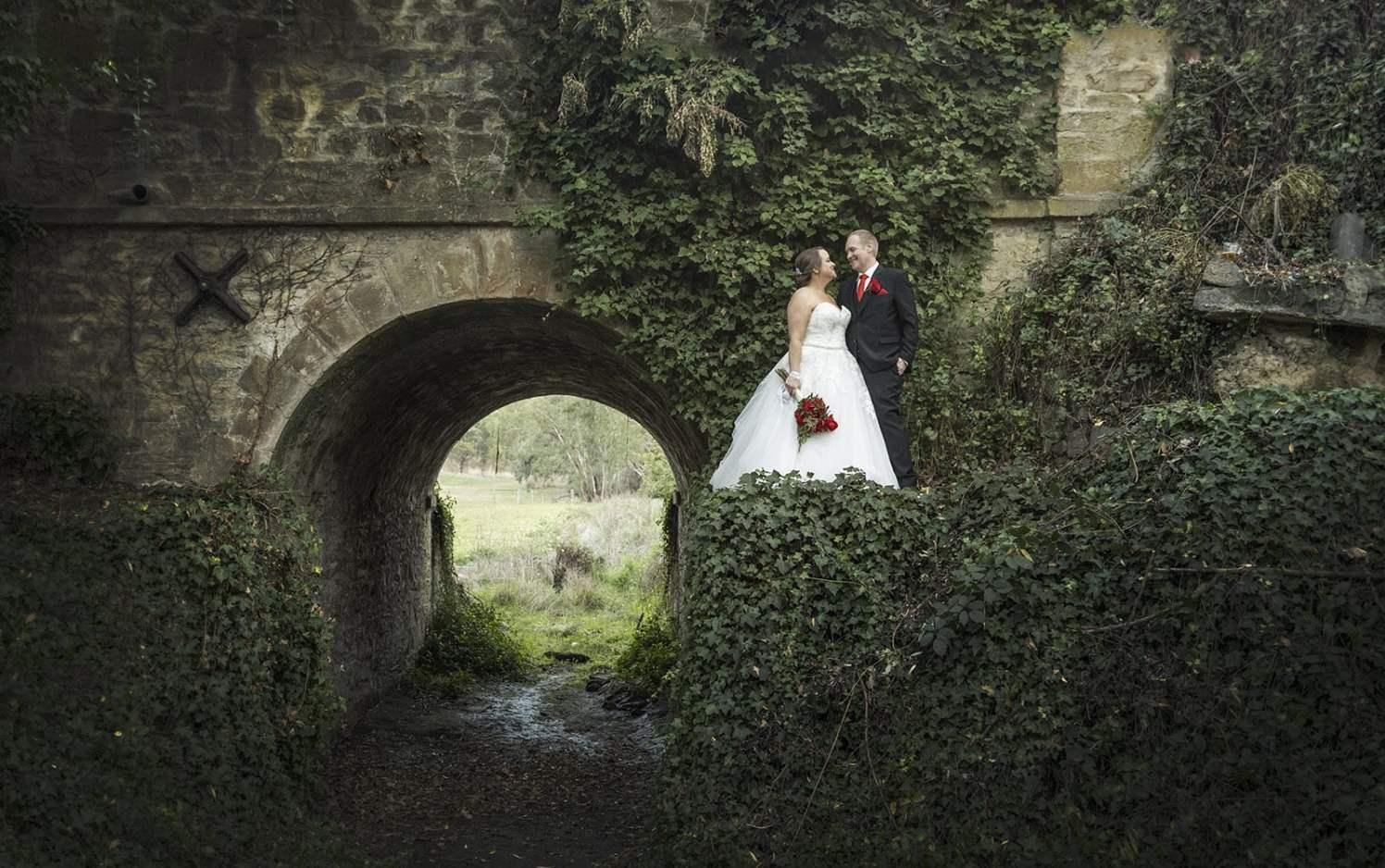 Gallop bridge Wedding photo