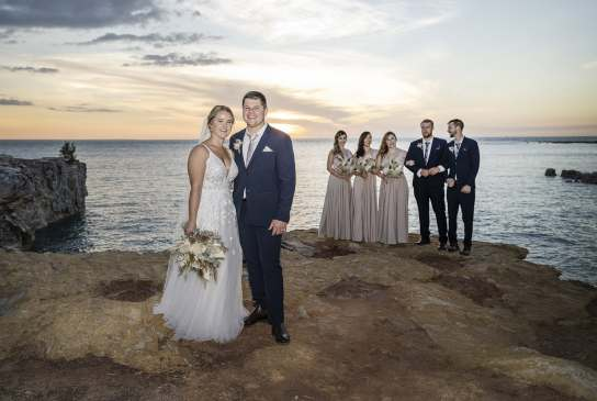 Bridal party at East Point