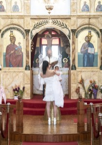 Godmother and baptised little one