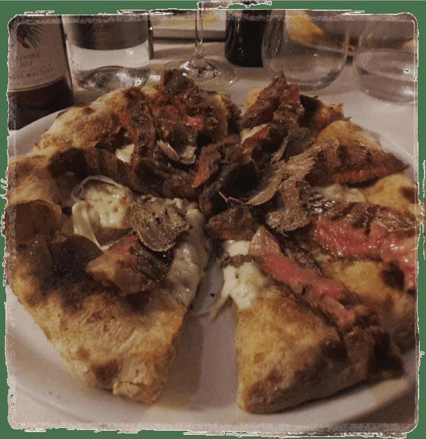 Pizza con Tagliata e Tartufo