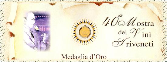 medaglia d'oro mostra vini triveneti
