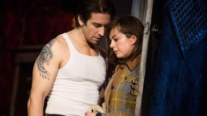 Andy Karl och Margo Seibert i musikalen Rocky på Broadway. Foto: Matthew Murphy/AP/TT