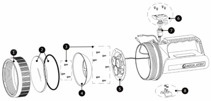 Фонарь взрывозащищенный аккумуляторный ручной MICA® IL-800 ZONE 0 И ZONE 1