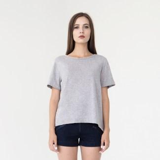 women denim mini shorts dark blue loops details side zip pockets fashion zip