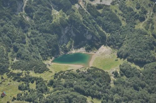 Small Skrka Lake from Planinica Peak