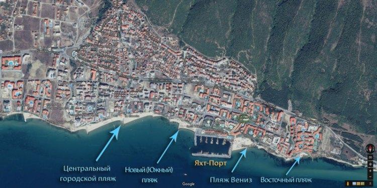 Карта пляжей Святого Власа