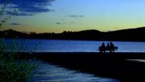 Grand Lake at night