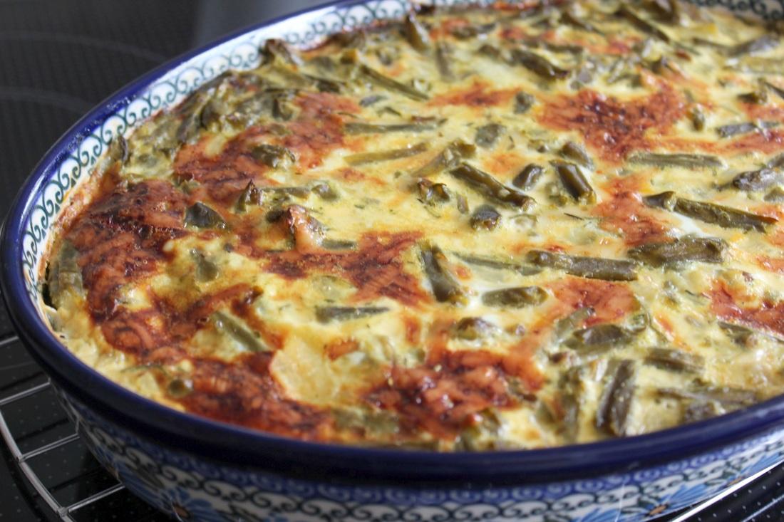 Vegetarischer Fisolenauflauf – Erinnerungen an Omas Küche