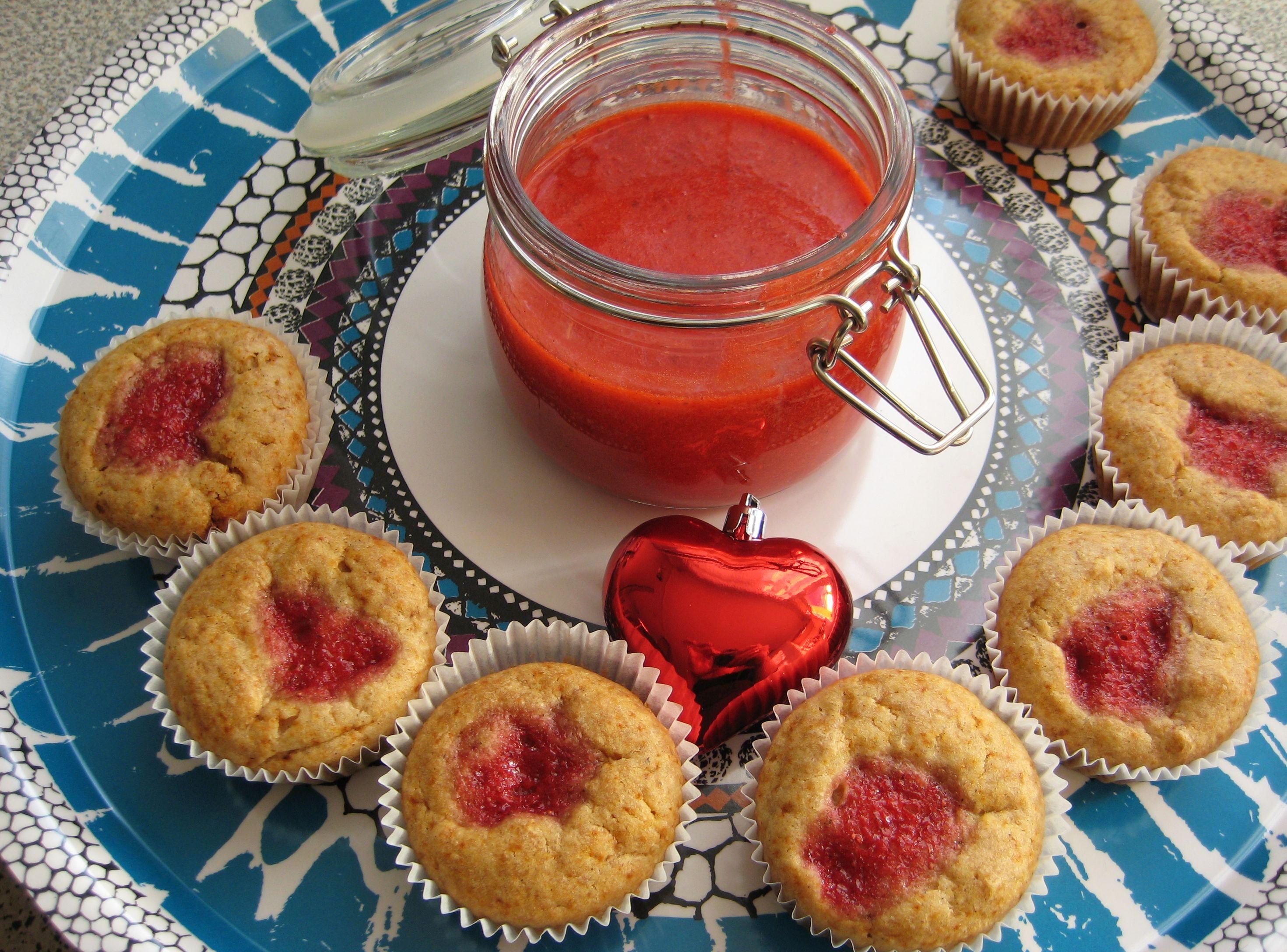 Be my Valentine! Flaumige Erdbeer-Kokos-Muffins zum Verlieben…