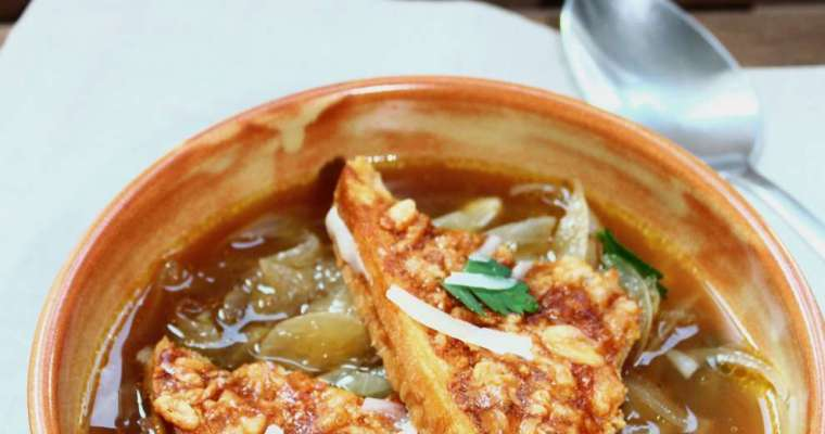 Geröstete Zwiebelsuppe